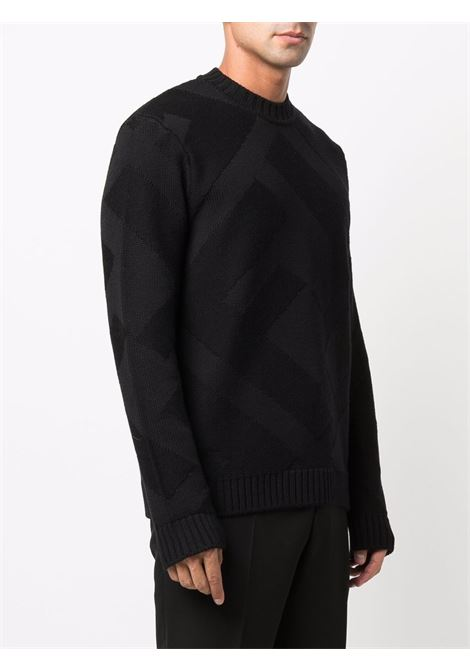 Black wool jumper featuring FF Fendi knitted construction FENDI |  | FZY490-AH2XF0QA1
