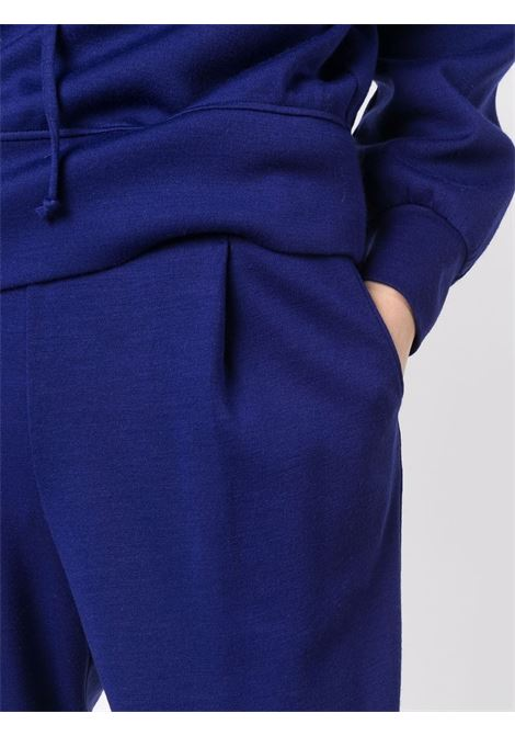 Blue virgin wool drawstring tracksuit bottoms  FORTE_FORTE |  | 8634ROYAL