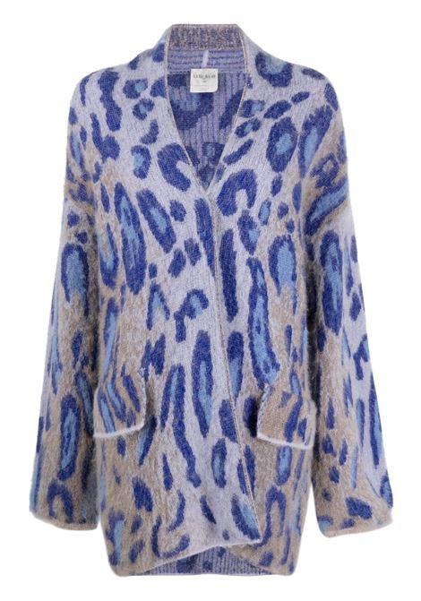 Blue alpaca wool leopard knit cardigan  FORTE_FORTE |  | 8715FIORDALISO