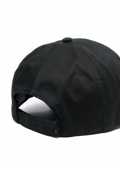 Cappellino nero in cotone biologico con logo Ganni GANNI | Cappelli | A3430252