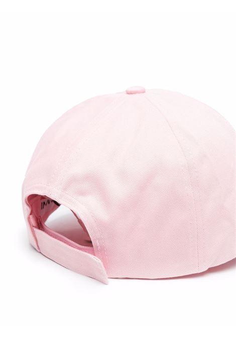 Cappellino rosa in cotone biologico con logo Ganni GANNI | Cappelli | A3430465