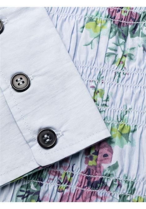 Heather blue organic cotton floral poplin midi dress  GANNI |  | F6253694