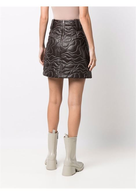 brown embroidered lambskin mini skirt  GANNI |  | F6389897