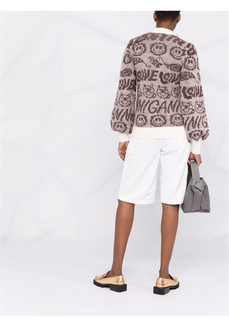 Brown merino and alpaca wool jumper  GANNI      K1551135