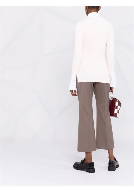 top bianco in maglia con bottoni decorati con cristalli GANNI | Camicie | K1562115
