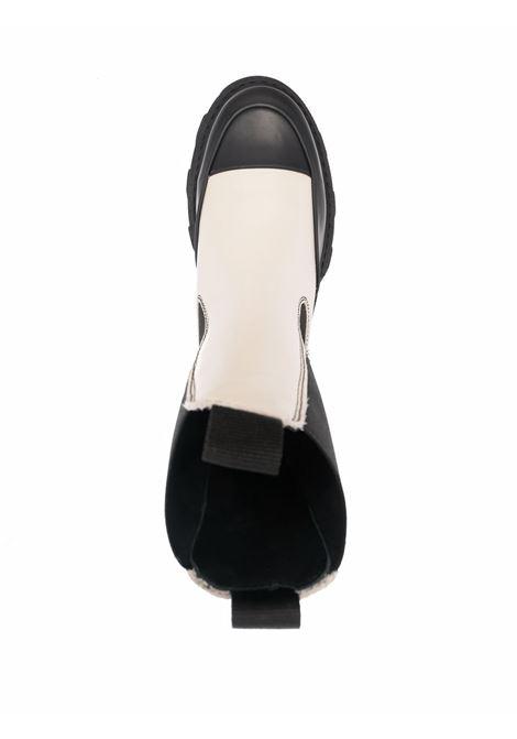 Stivaletti Chelsea in pelle panna e nero GANNI | Stivali | S1621873