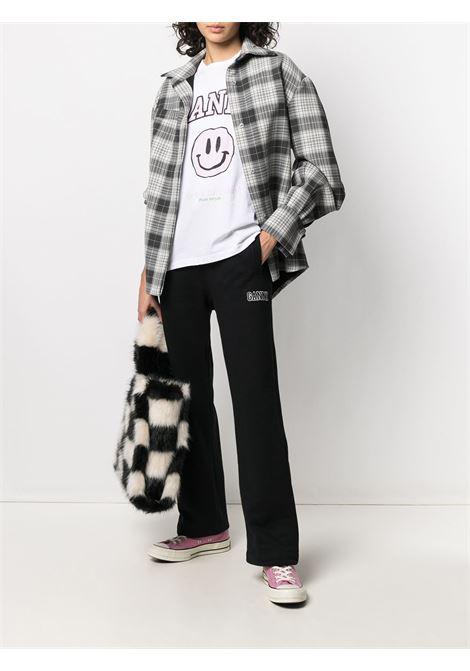 Black organic recycled cotton track pants GANNI |  | T2926099