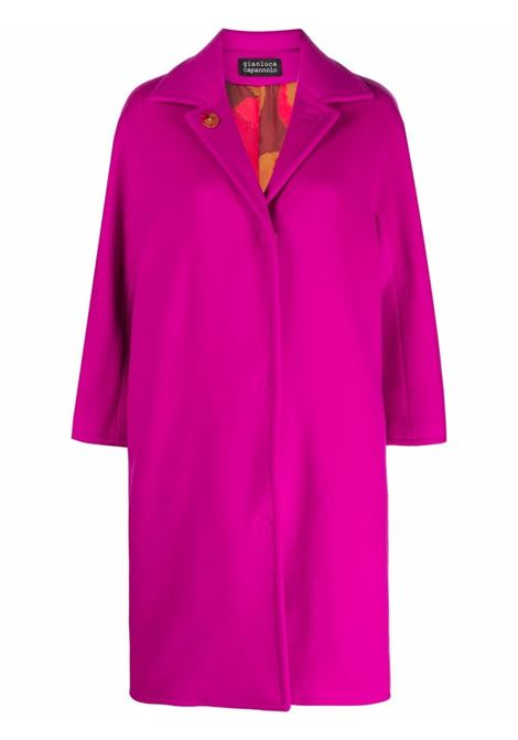 Cappotto fucsia Kim in misto lana vergine con maniche a tre quarti GIANLUCA CAPANNOLO | Cappotti | 21IM350-100 KIM10508