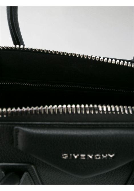 tote bag piccola Antigona in pelle di capra nera con manici tondi GIVENCHY | Borse a mano | BB05117012-ANTIGONA001