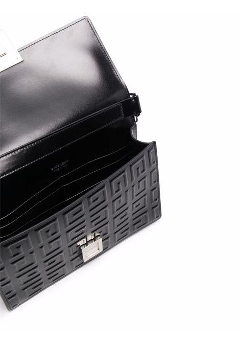 Borsa 4G in pelle nera con tracolla a catena scorrevole argentata GIVENCHY | Borse a tracolla | BB50HEB144-4G MINI CHAIN BAG001
