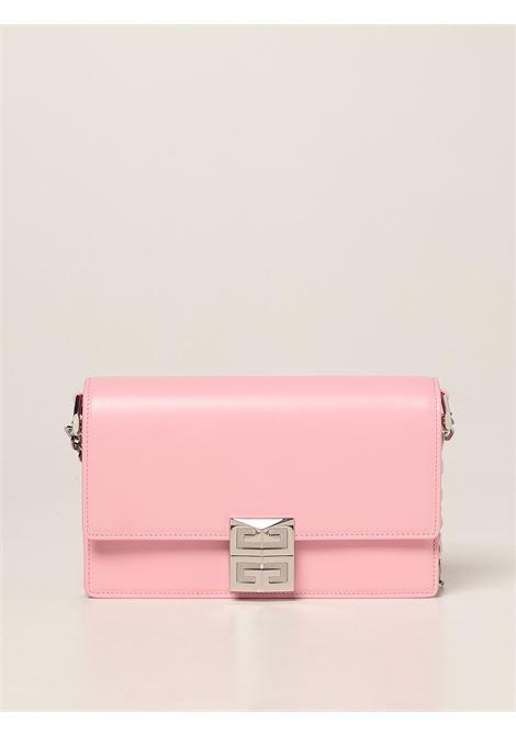 Borsa piccola 4G in pelle rosa con tracolla a catena argentata GIVENCHY | Borse a tracolla | BB50HEB15S-4G MINI CHAIN BAG661