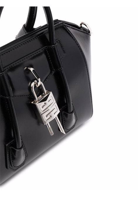 Borsa tote Antigona Lock Mini in pelle di vitello nera GIVENCHY | Borse a tracolla | BB50J0B00D-ANTIGONA MINI001
