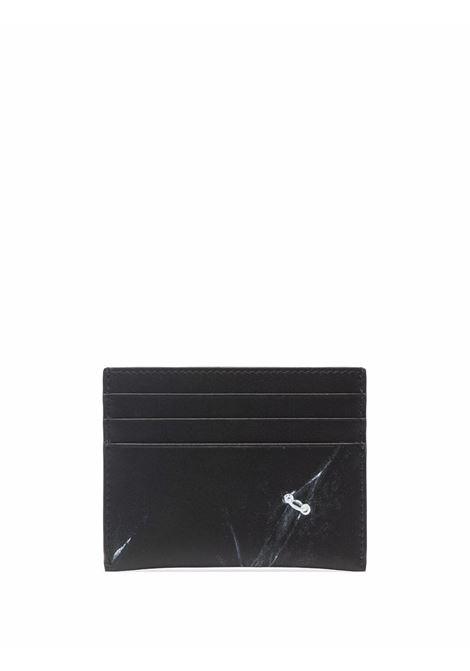 Portacarte in pelle di vitello nera con stampa Givenchy in trompe l'oeil GIVENCHY | Portacarte | BK6099K18Y-2X3 CC001