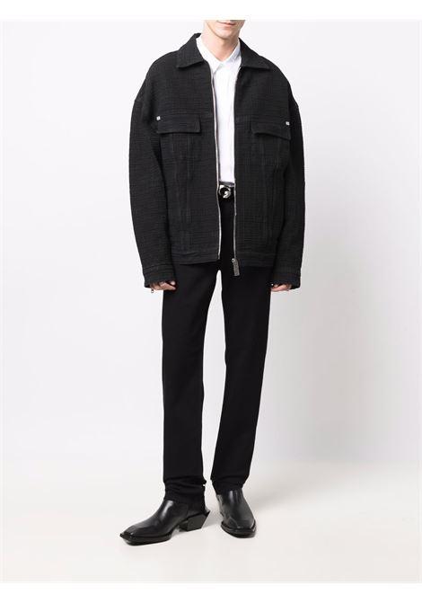 Black cotton 4G monogram denim jacket   GIVENCHY |  | BM00Q550P7001