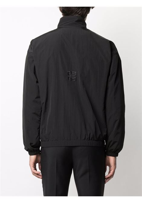 Giubbotto nero in nylon con logo Givenchy  e 4G ricamato GIVENCHY | Giubbini | BM00SE11BX001