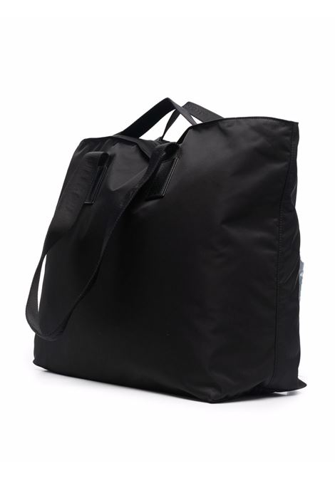 Borsa tote nera in nylon con logo Givenchy silver GIVENCHY | Borse tote | BM508MK17N-4G LIGHT001