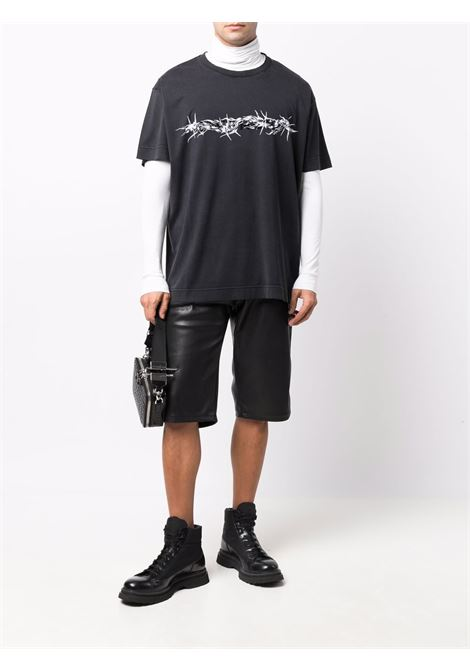 Washed effect black oversized cotton T.shirt  GIVENCHY |  | BM716Y3Y6B001
