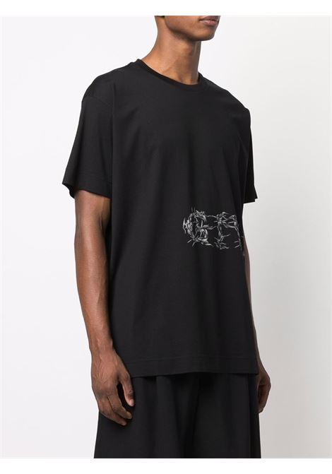 Black cotton T-shirt featuring Givenchy logo print  GIVENCHY |  | BM71733Y6B001