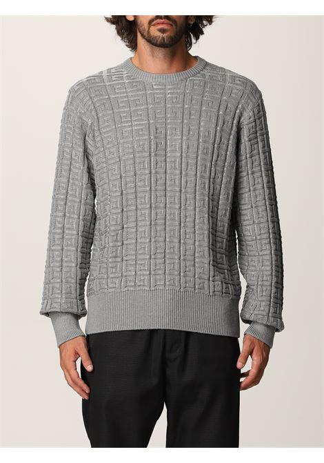 Grey cotton Givenchy jacquard-logo jumper  GIVENCHY |  | BM90G64Y85067
