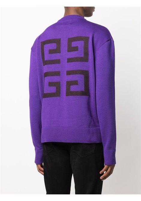 Purple wool 4G logo jumper featuring black Givenchy logo GIVENCHY |  | BM90GW4Y5D500