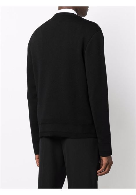 Black wool jumper featuring Givenchy logo in  silver-tone stud detailing GIVENCHY |  | BM90GX4Y54001