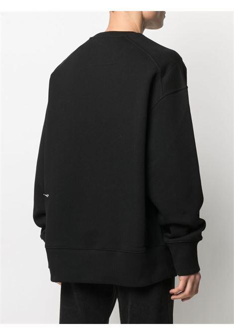 Felpa nera in cotone con stampa logo Givenchy GIVENCHY | Felpe | BMJ0B83Y69001