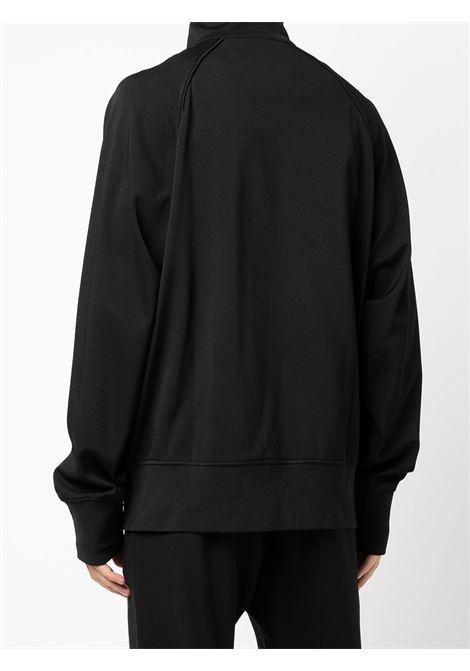 Giacca sportiva nera con zip e logo Givenchy sul petto GIVENCHY | Giubbini | BMJ0D430Q6001