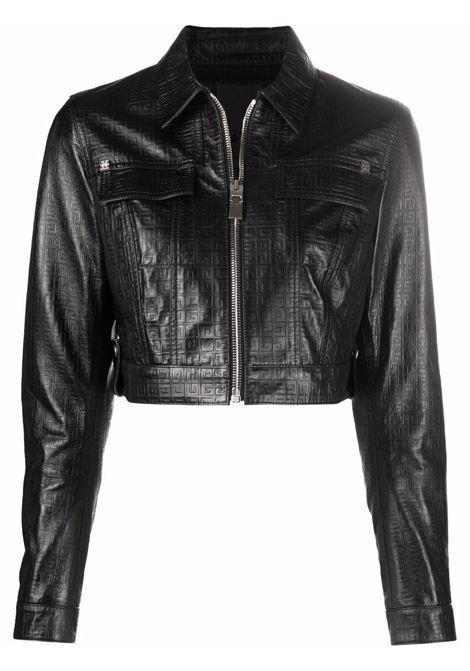 Black lambskin 4G motif cropped jacket  GIVENCHY      BW00CM612N001