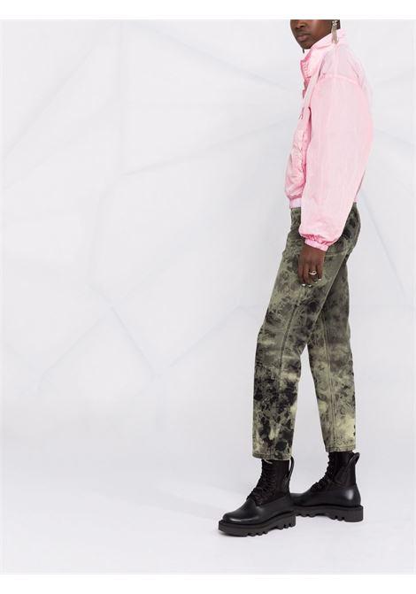 bomber sportivo rosa chiaro con logo Givenchy ricamato GIVENCHY | Giubbini | BW00CS13T2681