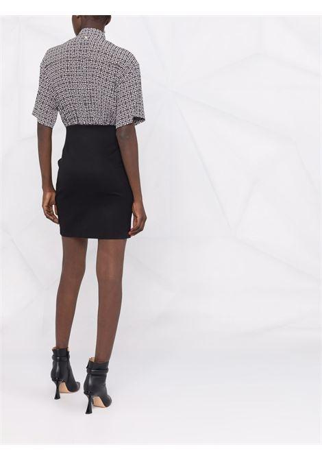 Mini abito bianco e nero in crepe de chine di seta GIVENCHY | Abiti | BW215213UA004