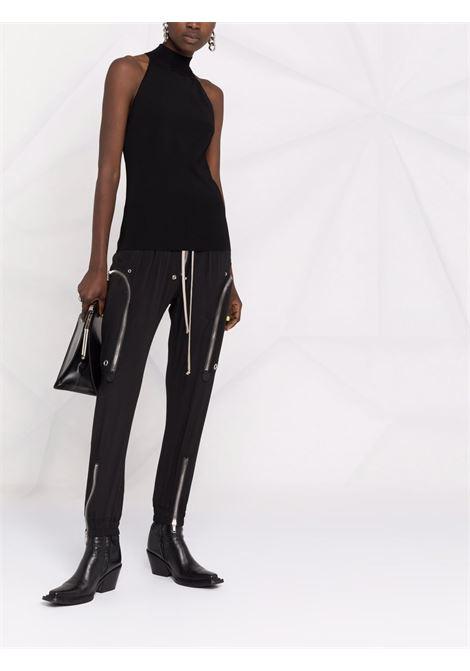 Top nero senza maniche con zip e collo alto GIVENCHY | Camicie | BW60UW4ZA5001