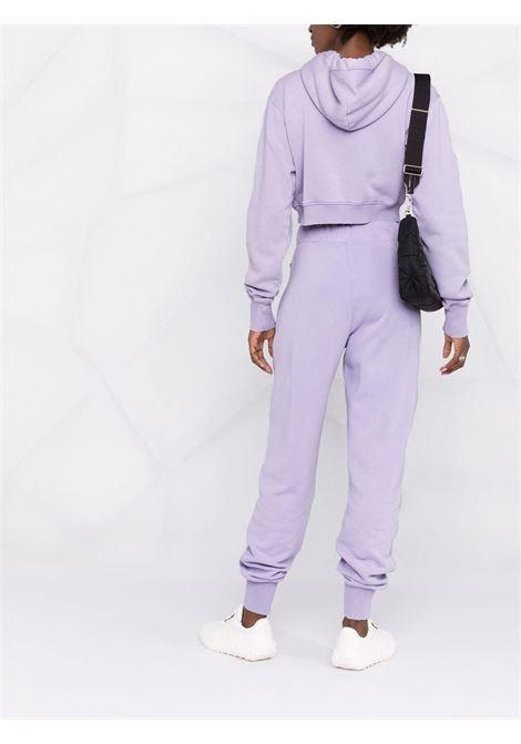 Felpa corta in cotone lilla con logo Givenchy GIVENCHY | Felpe | BWJ0253Z77540