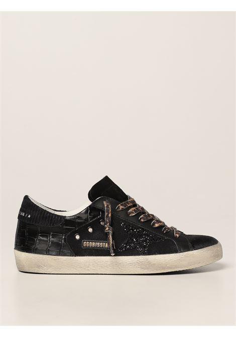 black crocodile effect SuperStar  sneakers featuring glitter detail GOLDEN GOOSE |  | GMF00103-F00208490100