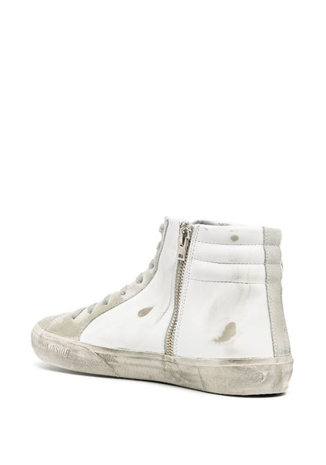 White distressed effect leather hi-top sneakers  GOLDEN GOOSE |  | GMF00115-F00032410276