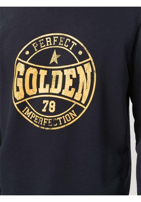 Blue cotton sweatshirt featuring gold Golden Goose logo print GOLDEN GOOSE |  | GMP01012-P00020750648
