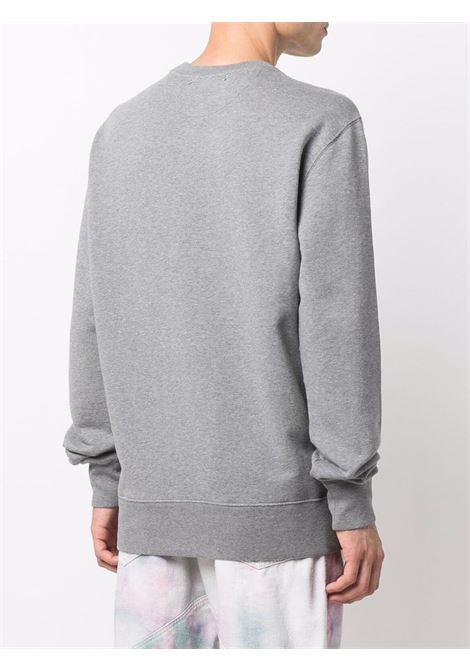 Grey cotton sweatshirt featuring bordeaux Golden Goose logo  GOLDEN GOOSE |  | GMP01024-P00037160314
