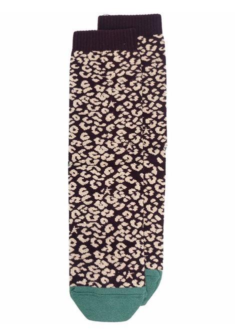 Calzini in maglia di cotone elasticizzato con stampa leopardata GOLDEN GOOSE | Calze | GUP00912-P00049381252