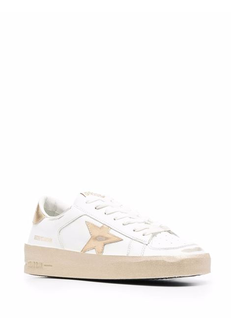 White and gold leather and fabric Stardan low-top lace-up sneakers GOLDEN GOOSE |  | GWF00128-F00218710272