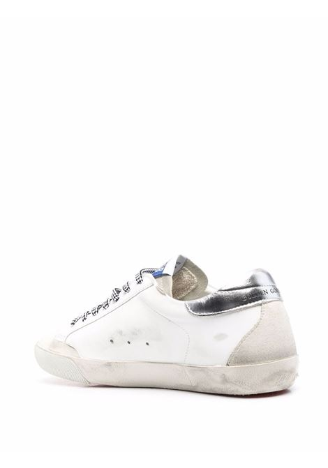 White and silver leather Super-Star low-top sneakers  GOLDEN GOOSE |  | GWF00175-F00194710273
