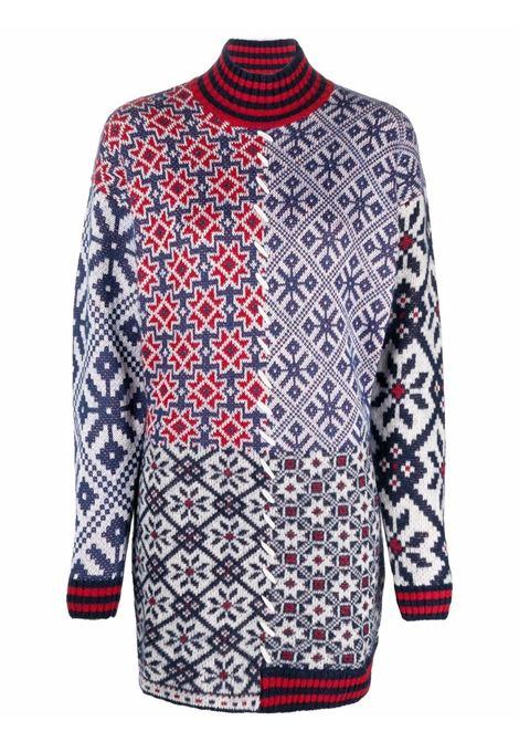 Multicolour wool patchwork roll neck dress  GOLDEN GOOSE |  | GWP00960-P00022580100