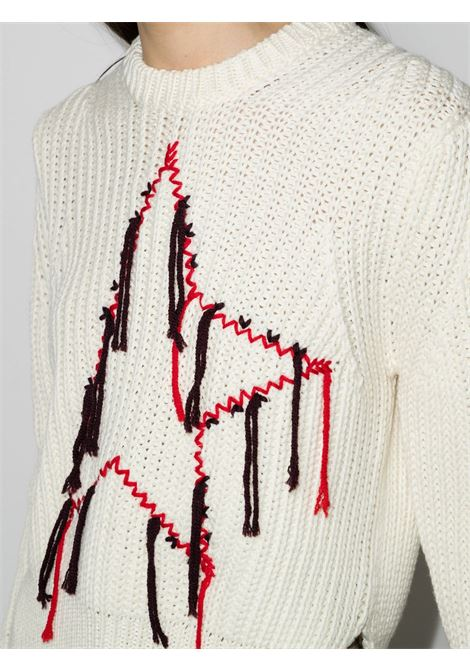 White virgin wool star-embroidered wool jumper   GOLDEN GOOSE |  | GWP00964-P00056110120