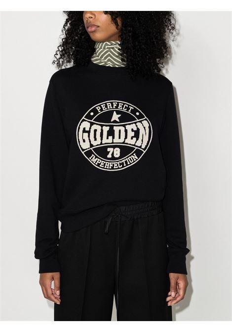 Felpa Athena in cotone nero GOLDEN GOOSE | Felpe | GWP01012-P00058390290