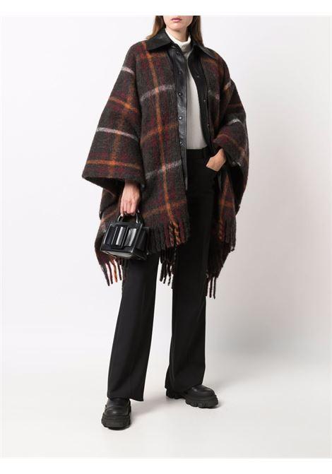 Mantella scozzese marrone in mohair e alpaca di lana vergine GOLDEN GOOSE | Poncho | GWP01037-P00060081407