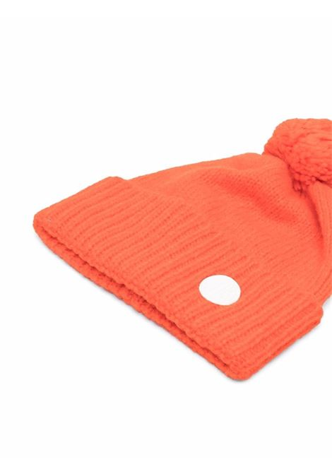 Cappello con pompon in maglia di lana mandarino GOLDEN GOOSE | Cappelli | GWP01040-P00056240126