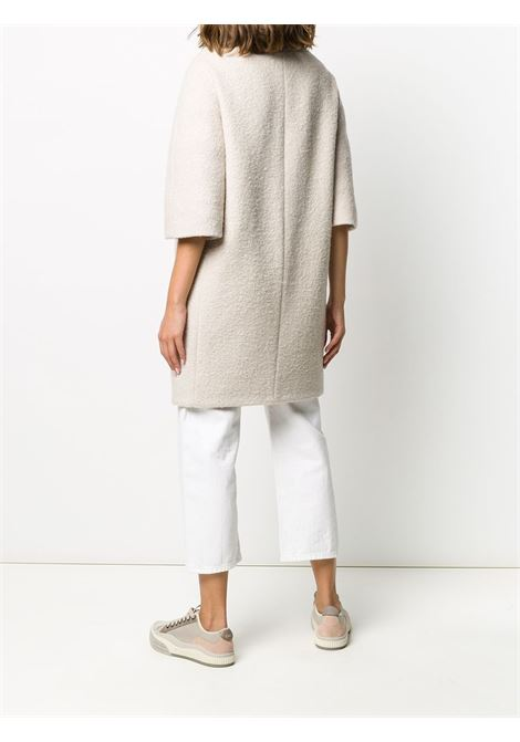 Beige cotton padded-detail mid-length coat  HERNO |  | CA0377D-331591985