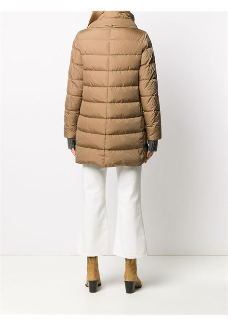 brown padded hooded coat featuring down-feather filling HERNO |  | PI0660D-120042155