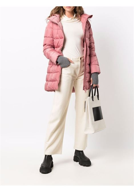 Pink and grey padded hooded coat featuring down-feather filling HERNO |  | PI0660D-120044130