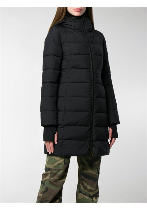 Long Black puffer coat with hood and front zip fastening HERNO |  | PI080DL-111069300