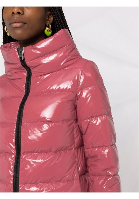Cropped down jacket in pink shiny nylon  HERNO |  | PI0837D-122204130
