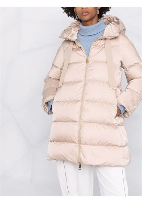 Cream hooded padded coat featuring down-feather filling HERNO |  | PI1304D-121701985